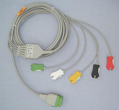 GE-Marquette 5 clip lead ECG Monitor Cable